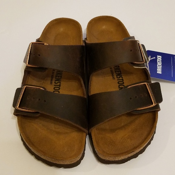 64043493ae2 New Birkenstock Arizona Habana Leather Sandals 39